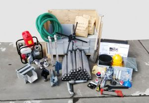Manual drilling kit, Rotary jetting